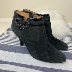 Sofft black heeled ankle booties